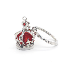 Elegant design high quality metal crown shape key chain keyring