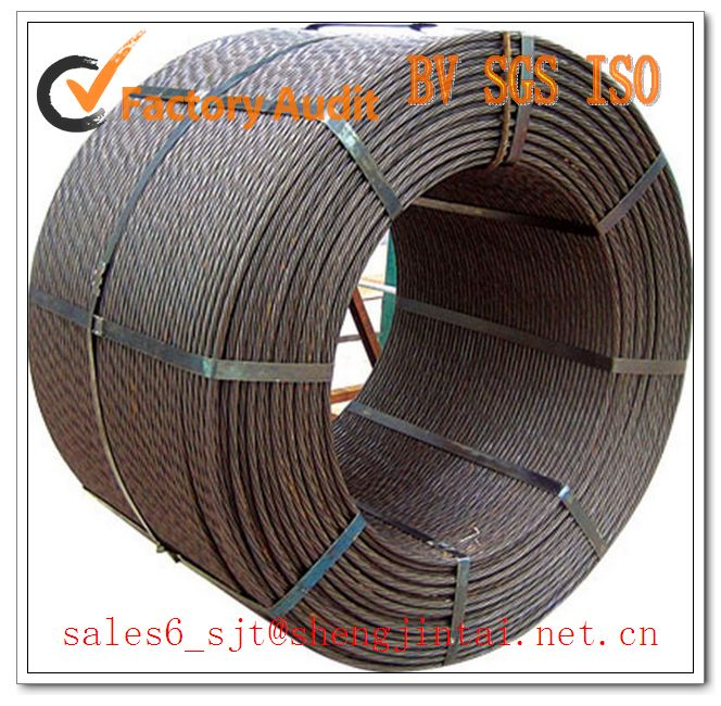 9.53mm/12.7mm/21.8mm Prestressed Concret Steel Strand For Construction Material