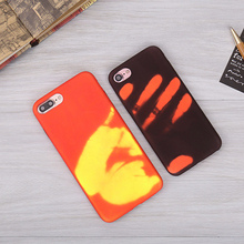 Temperature Sensitive Heat Transfer Phone Cover Thermal Color Changing Phone Case For Iphone7