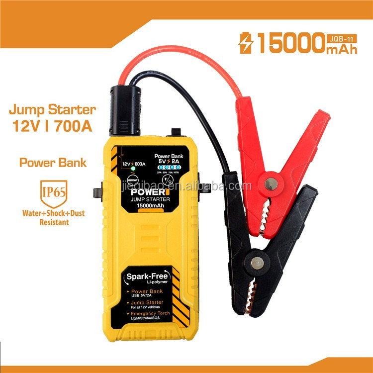 Best Quality 12V Portable Mini Jump Starter Car Jumper Booster Power Mobile Phone Power Bank Battery Charger