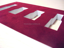 Wholesale durable eva foam custom foam insert velvet foam