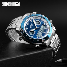 Original factory SKMEI analog watches men chronograph steel watch vogue