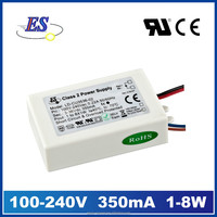 8W 350mA 36V AC-DC Constant Current Waterproof LED Driver Power Supply with CE SELV UL CUL