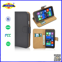 Luxury Genuine Real Leather Flip Case Wallet Cover For Nokia Lumia 730/735