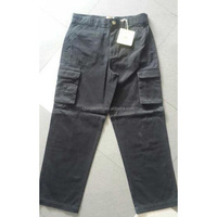 apparel plain 100%cotton cargo pants stock