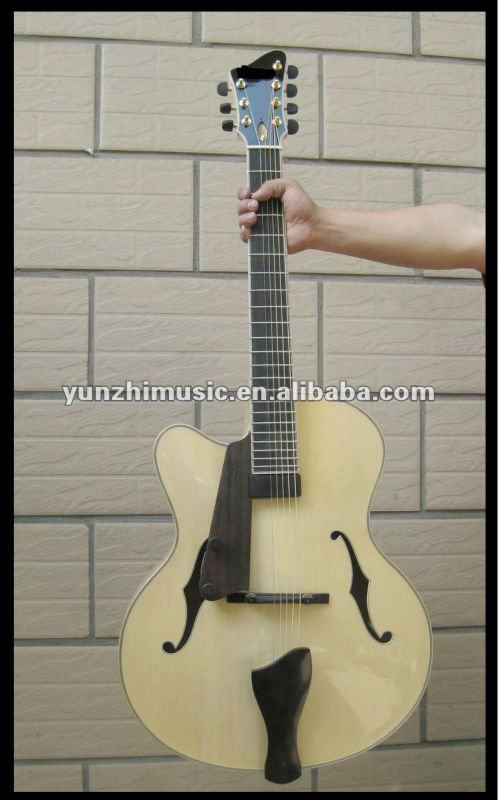 yunzhi handmade 7 strings left hand electric jazz guitar