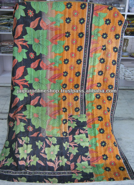 Vintage handmade kantha ralli / throw / quilts