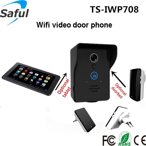 Saful TS-IWP708 <strong>new</strong> products 2016 wireless video doorphone wifi door viewer and smart ip doorbell with night vision