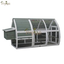 New design large waterproof wooden chicken house with run