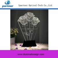 Top Selling Night Led Light Table Decoration, 3D Acrylic Lamp Light