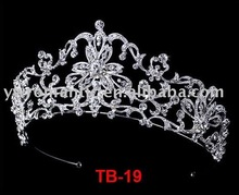 2017 high quality large tall pageant crown tiara