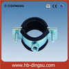 iron tube rubber line clamp with M8/10 nut