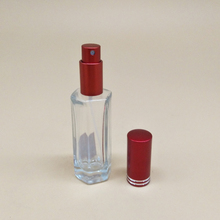 20ml China manufacturer traditional hexagonal shape fancy spray cosmetic mini glass empty bottle for perfume