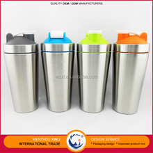 Factories Wenzhou Colorful Cheap Insulated Wide Mouth Stainless Steel Drink Shaker Metal Water Bottle 780ML