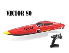 2.4Ghz Radio Control Vector 80 (cm) Super High Speed Race Boat ABS Unibody RC ARTR w/ESC Brushless Motor v798-1