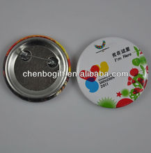 OEM Factory tinplate promotion button badge / round button badge / pin buttons