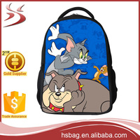 Wholesale Chidren School Bag,Polyester Tom And Jerry School Backpack