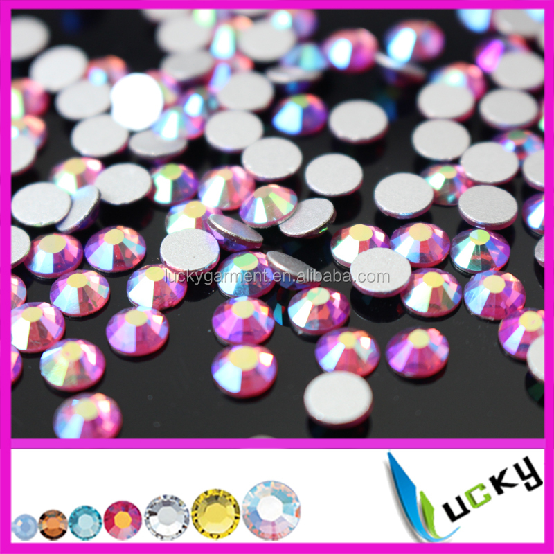 Wholesale sun ab hyacinth ab orange ab fuchsia ab color nail crystals flat back non hotfix strass