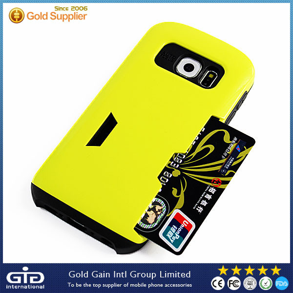 [GGIT] Colorful TPU+PC Case Cover with Card Slot for Galaxy S6