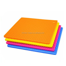Factory Direct Sale Colorful Anti-slip Square Silicone Pad