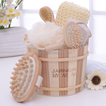 Natural Wooden Bath Loofah Set Small New Promotional Gift item