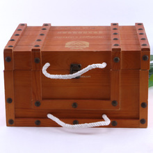 Europe six bottle old wooden wine packaging/gift box for wholesale