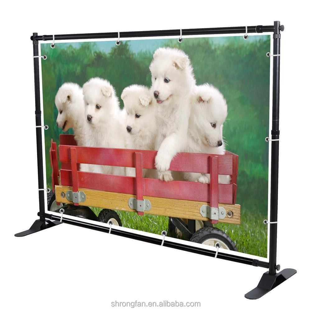 Free standing photography backdrop telescopic exhibition banner stand for event