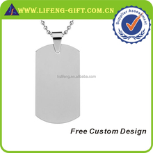 Custom Metal Logo Blank Dog Tag