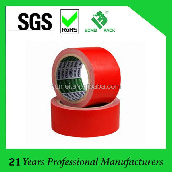 Free sample red cloth duct tape with hotmelt/rubber adhesive