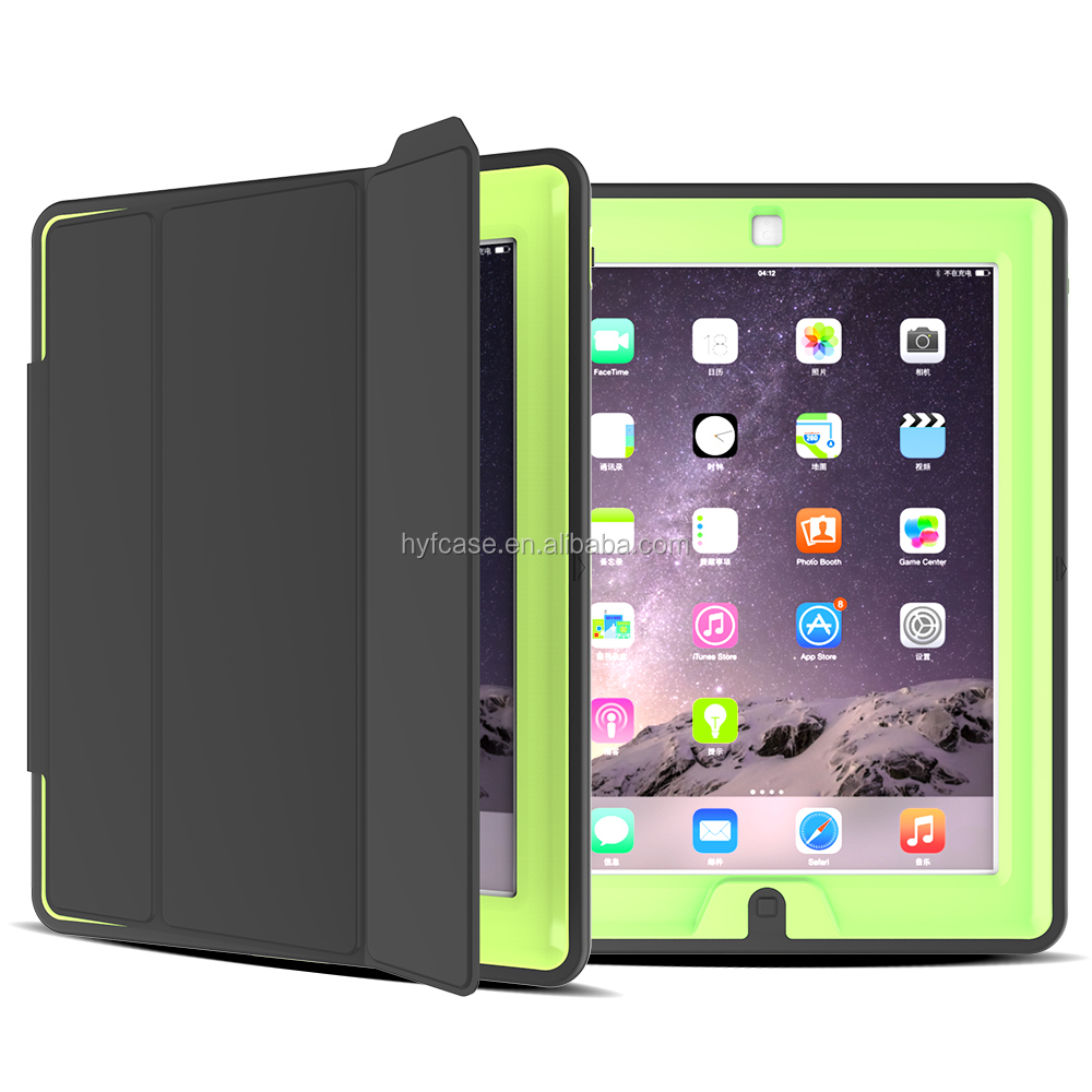 Stock Top Design Useful Kickstand Case For Ipad4/Ipad3/ipad2;factory price Hybrid Covers Cases For ipad4 Shockproof Case