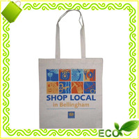 reusable washable custom logo heat transfer printing shopping tote eco promotional cotton bag