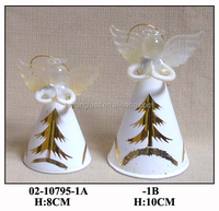 Handmade Champagne Christmas Decoration Glass Hanging Angel