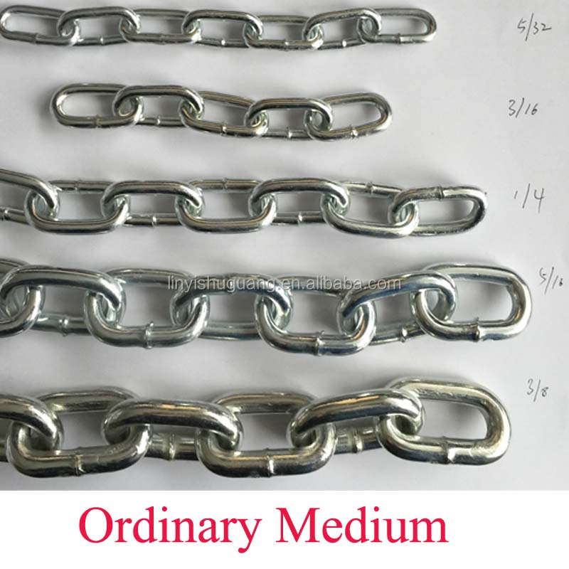Zinc Plated Ordinary Mild Steel Medium Link Chain