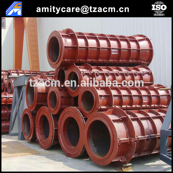 High quality concrete drain water pipe steel moulds