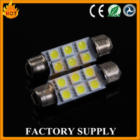 Good Feedback!!! Auto LED Festoon Bulb Lamp Canbus Non-Polarity 42mm 44mm 5050 6SMD DC12V Error Free for Car Interior Light