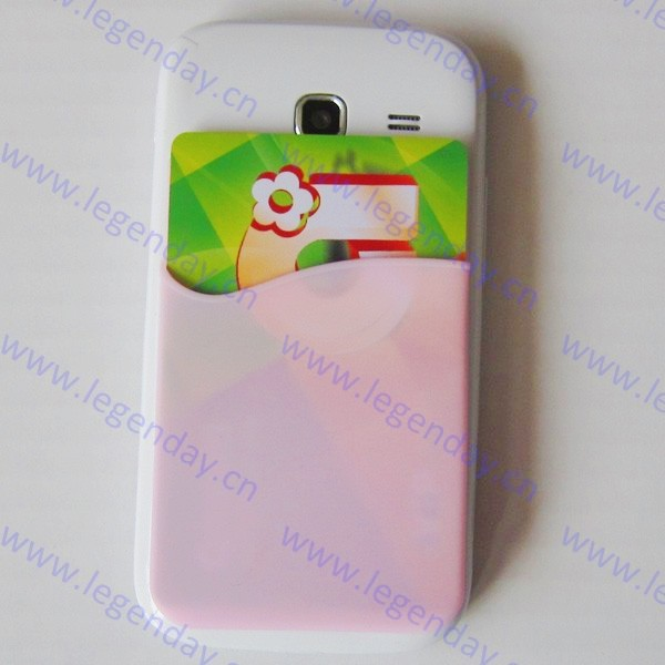 China supplier sticker silicone mobile phone smart wallet with custom logo
