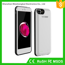 Colorful changing cell phone power chager cover black mobile phone accessories battery case for iPhone 6 6S 7 plus