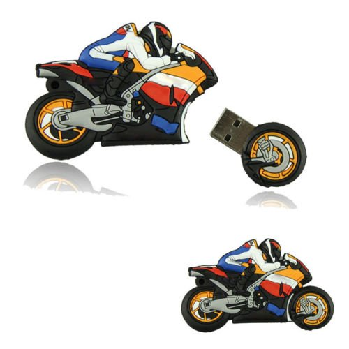 usb flash drive 32gb pendrive cartoon Motorcycle 4gb 8gb 16gb bulk motor car memory stick u disk gift