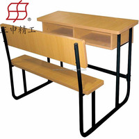 Elementary double school desk with chair school table and chairs set