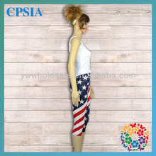2014 American Style Wholesale Five Star Stripe Elegant High Waist Young Sexy Girl Pants Children Pant