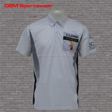 Wholesale zipper collar school uniform polo shirt
