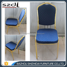 Blue Hotel Banquet Chair Stacking Chair with Cushion SDB-206