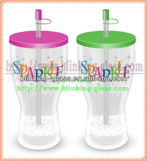 straw led flashing cup