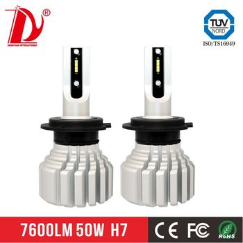 d2s led headlights 50w 7600lm led headlight h7 with factory price 13600lm p9