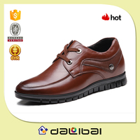 2015 Best price small MOQ brown black cheap leather formal men shoes