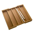 Natural Bamboo Expandable Drawer Cutlery Organizer Pure Bamboo Cutlery Tray