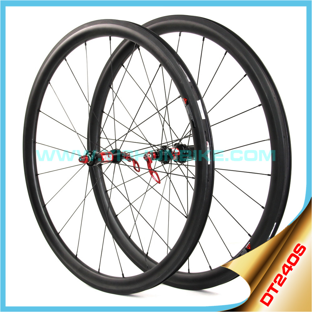 High end!! 700C * 55mm carbon fiber wheels DT240S best bicycle carbon road wheels clincher tubeless ready Sapim cx-ray spokes