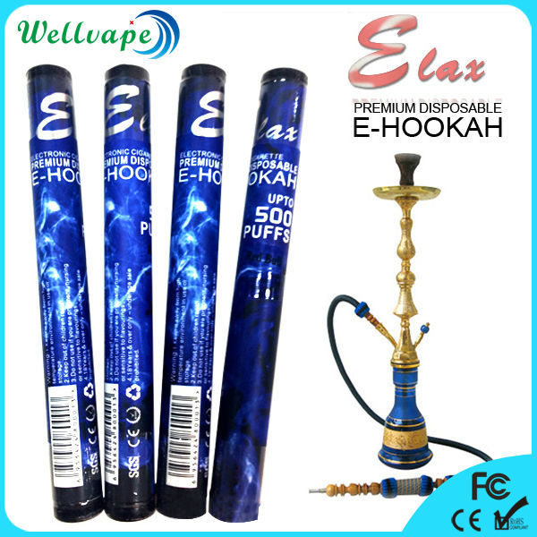 USA top selling 500 puffs disposable elax e hooakh mya hookah