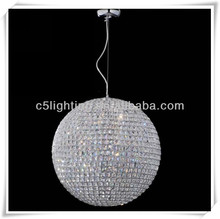 contemporary hanging global round crystal ball pendant light lamp for hotel project
