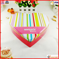 small packing food chocolate tin heart shape metal box